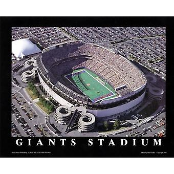 Giants Stadium - East Rutherford Nj Poster Print by Brad Geller (28 x 22)