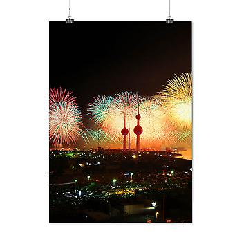 Matte or Glossy Poster with New Year Firework | Wellcoda | *q1366