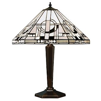 Metropolitan Medium Tiffany Style antik Patina bordslampa - interiör 1900 64263