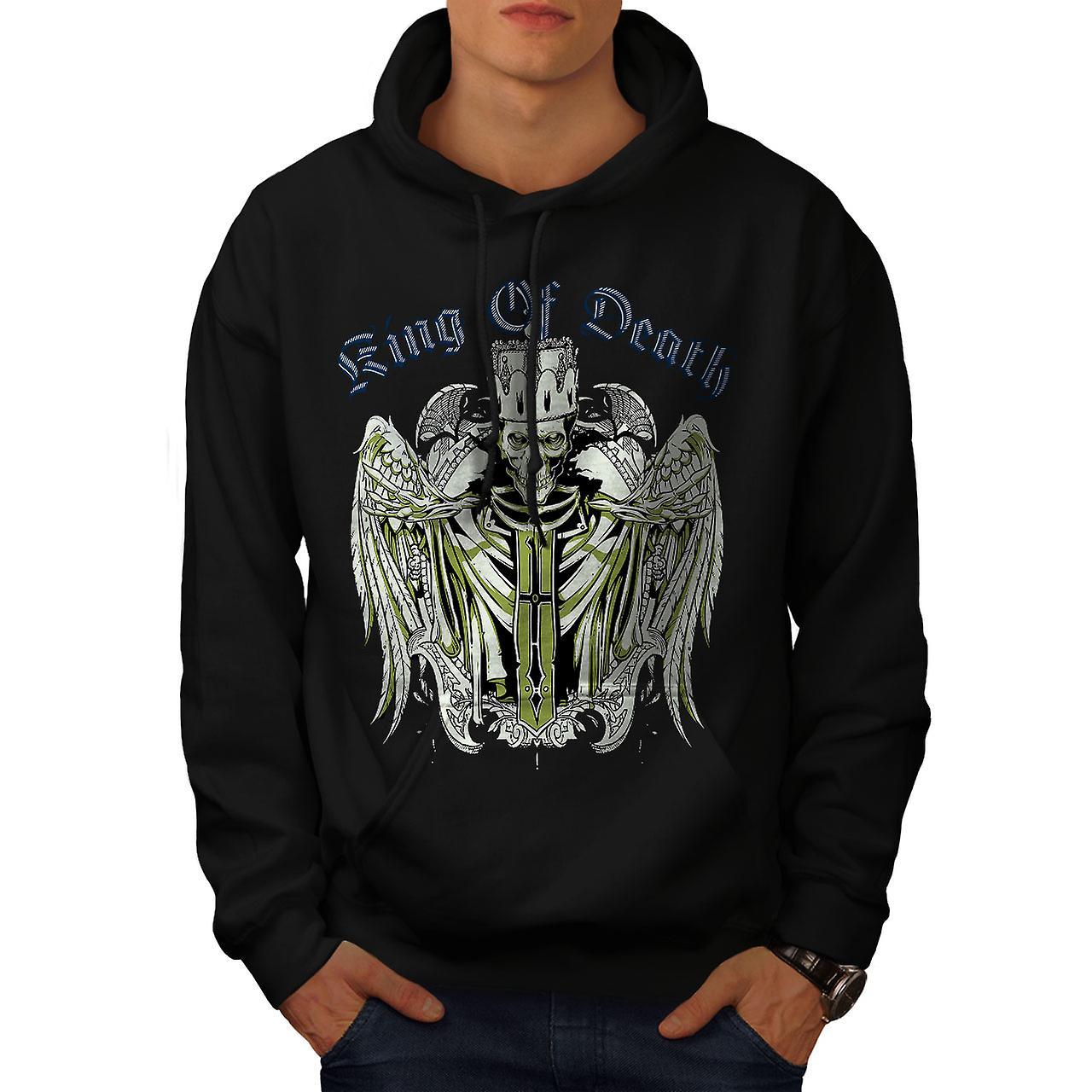 King Of Death Devil Skull Men Black Hoodie | Wellcoda