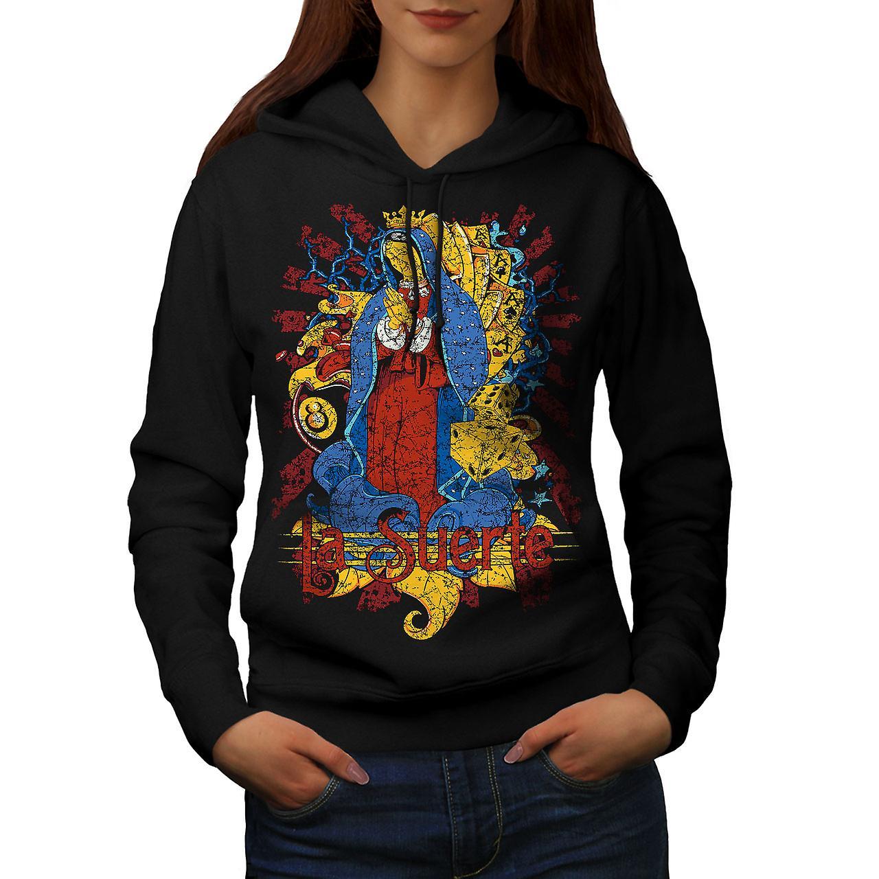 Mary Magdalene Card Women Black Hoodie | Wellcoda