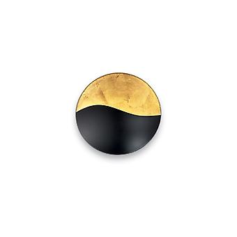 Sunrise Large Black/Gold Wall Light - Ideal Lux 133300