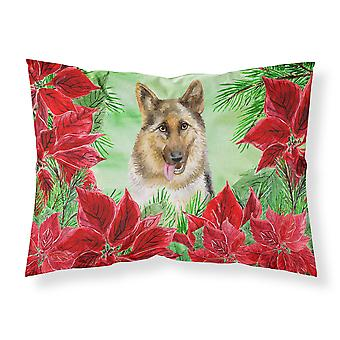 German Shepherd Poinsettas Fabric Standard Pillowcase
