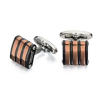 Stainless Steel Gold Plated And Copper Cufflink
