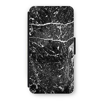 iPhone 8 プラス フリップ ケース - 黒大理石