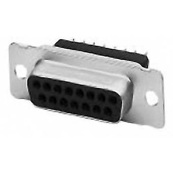 D-SUB receptacles 180 ° Number of pins: 25 Print TE Connectivity