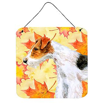 Carolines Treasures  BB9911DS66 Fox Terrier Fall Wall or Door Hanging Prints