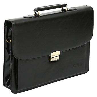 Leather Look Pu Laptop Briefcase Business Satchel Work Case Shoulder Bag