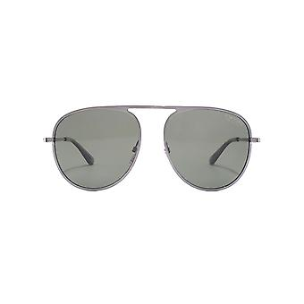 Tom Ford Jason 02 Sunglasses In Shiny Gunmetal Green Polarised