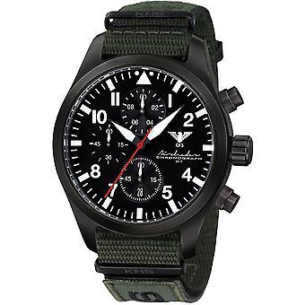 KHS Herrenuhr Airleader svart stål kronograf KHS. AIRBSC. NXTO1