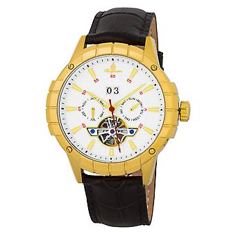 Burgmeister BM342-215 Palmdale, Gents automatic watch, Analogue display - Water resistant, Stylish leather strap, Classic men's watch