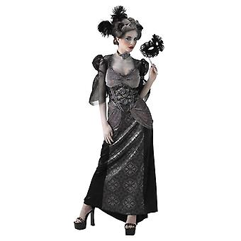 Masquerade Ball Countess Gothic Vampiress Day of Dead Women Costume L