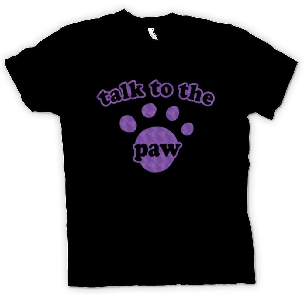 Enfants T-shirt-« Parler à la patte » chien chat