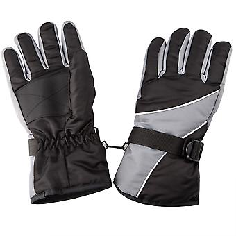 TRIXES Warm Outdoor Cold Weather Winter Sports Snow Gloves Black & Grey
