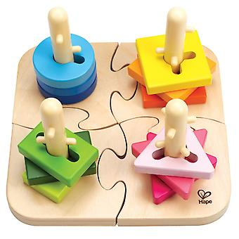 Hape E0411 Creative Peg Puzzle