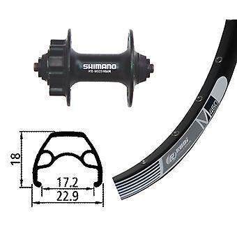 Bike parts 26″ wheel Rodi M 460 disc + Shimano alivio 6-hole (QR)