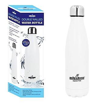 Белая вода бутылка 500 мл BPA бесплатно из нержавеющей стали вакуумной изоляцией двустенных горячие & холодной спортивных напитков бутылки