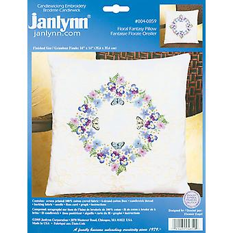 Floral Fantasy Candlewicking Embroidery Kit-14