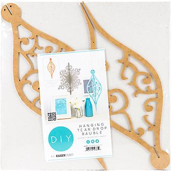 Beyond The Page MDF Hanging Tear Drop Bauble Ornament-14.25