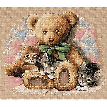 Teddy & Kittens Counted Cross Stitch Kit-14