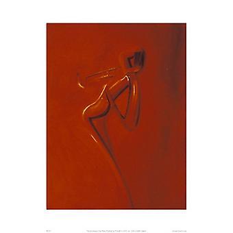Impressão de cartaz trompete dourado por Patrick Ciranna (16 x 20)