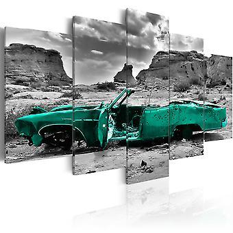 Canvas Print - Green car
