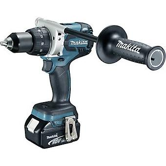 Makita DDF481RTJ Cordless drill 18 V 5 Ah Li-ion incl. spare battery, incl. case