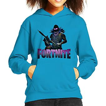 Fortnite Raven Skin With Weapon Kid's Hooded Sweatshirt