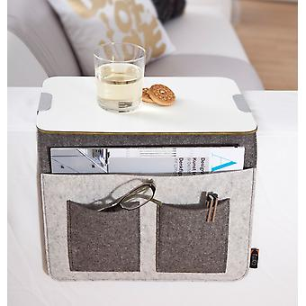 Sofa tray sofa Butler sofa storage armrest Organizer wood felt grey