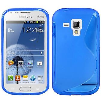 Mobile case TPU case for Samsung Galaxy Galaxy trend duos S7562 S7580 S7582 blue