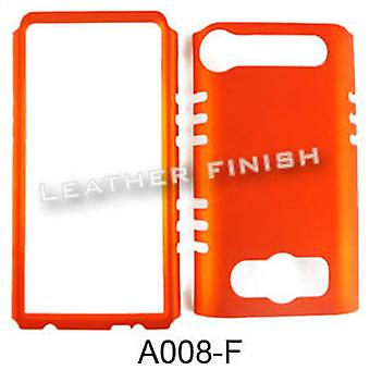 Rocker Series Snap-On Protector Case for HTC Evo 4G (Leather Honey Burn Orange)