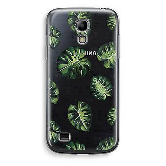 Samsung Galaxy S4 Mini Transparent Case (Soft) - Tropical leaves