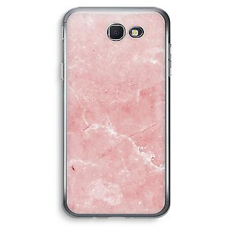 Samsung Galaxy J5 Prime (2017) Transparent Case (Soft) - Pink Marble