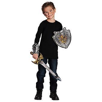 Knight set children 3pcs shield sword cuff accessory Carnival Castle castle