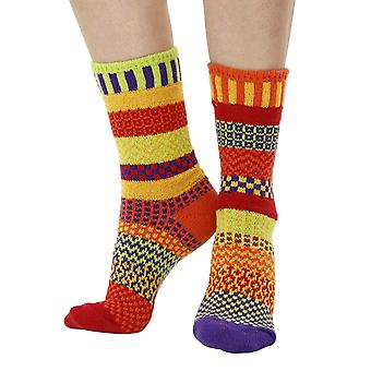 Daffodil recycled cotton multicolour odd-socks | Crafted by Solmate