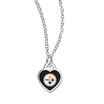 Wincraft damer hjerte halskjede - NFL Pittsburgh Steelers