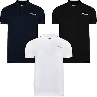 Lambretta Mens Regular Fit Short Sleeve Plain Casual Pique Polo Shirt Tee Top