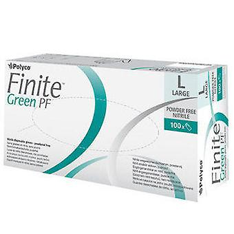 Polyco FNG100/02 Finite Green Nitrile Powder Free Disposable Glove Medium