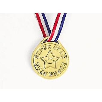 12 Super Star Award Medals Party Bag Fillers & Game Prizes | Kids Party Games