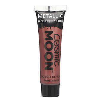 Cosmic Moon - Metallic Face Paint makeup for the Face & Body - 12ml - Create mesmerising metallic face paint designs! - Red