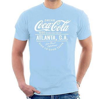 Coca Cola Atlanta GA White Text Men's T-Shirt