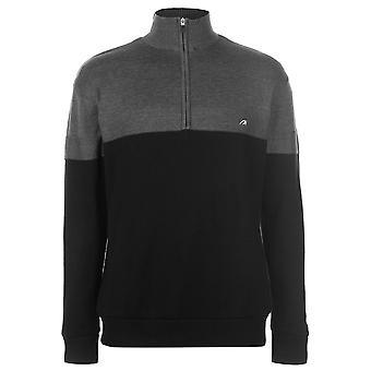 Benross Mens Sweater Jumper Pullover Long Sleeve High Neck Windproof Zip Half