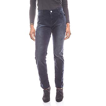 Q / S designed by s. Oliver soft ladies pants in Velvet look blue