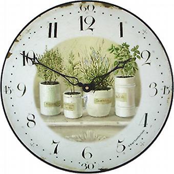Roger Lascelles Herb Potter Wall Clock - 36cm