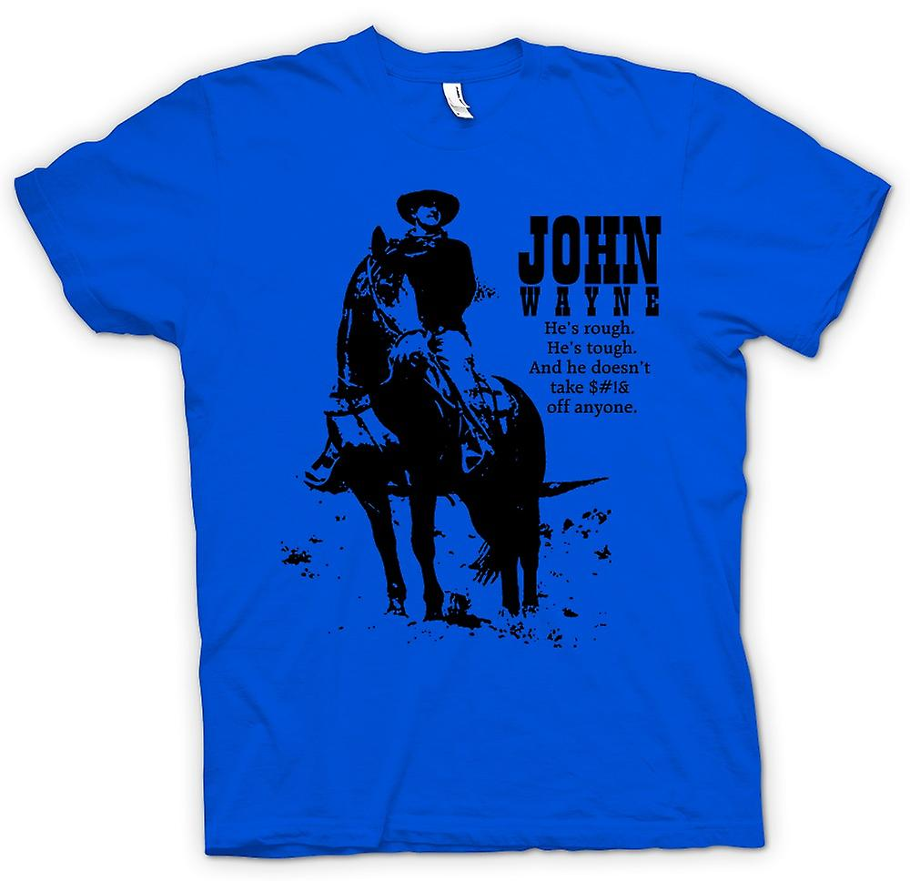 Mens t-shirt - John Wayne Rough - Cowboy Western
