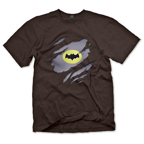 Mens T-shirt - Batman Under Shirt Effect - Movie Superhero
