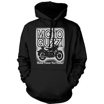 Mens Hoodie - Moto Guzzi Make Power Not Noise