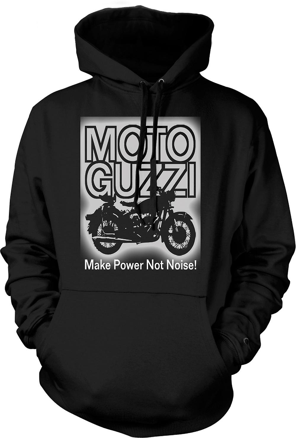 Mens Hoodie - Moto Guzzi Make Power Not Noise