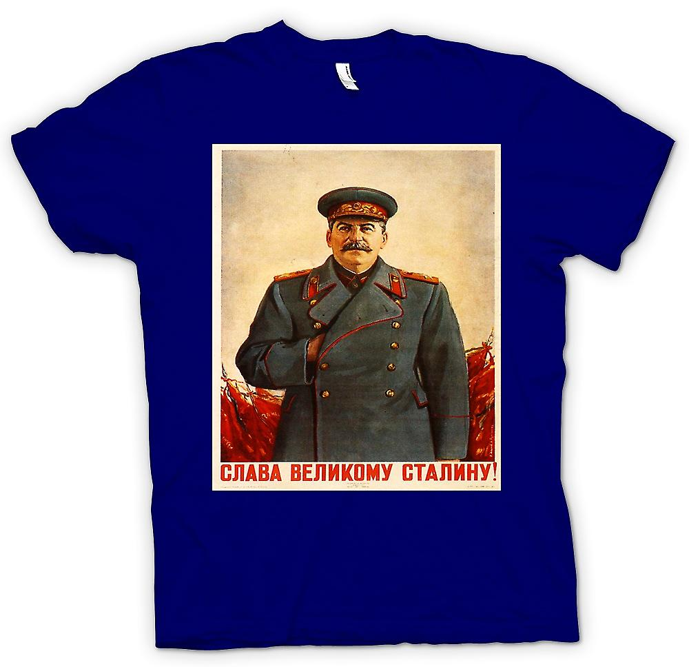 Mens T-shirt - russische Propaganda-Poster - Stalin