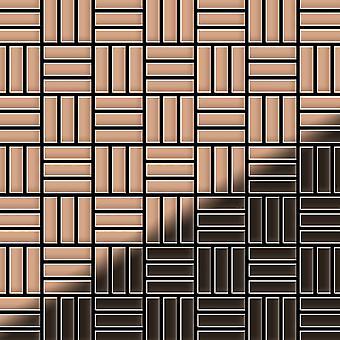Mosaico de metal sólido Cobre ALLOY Basketweave-CM